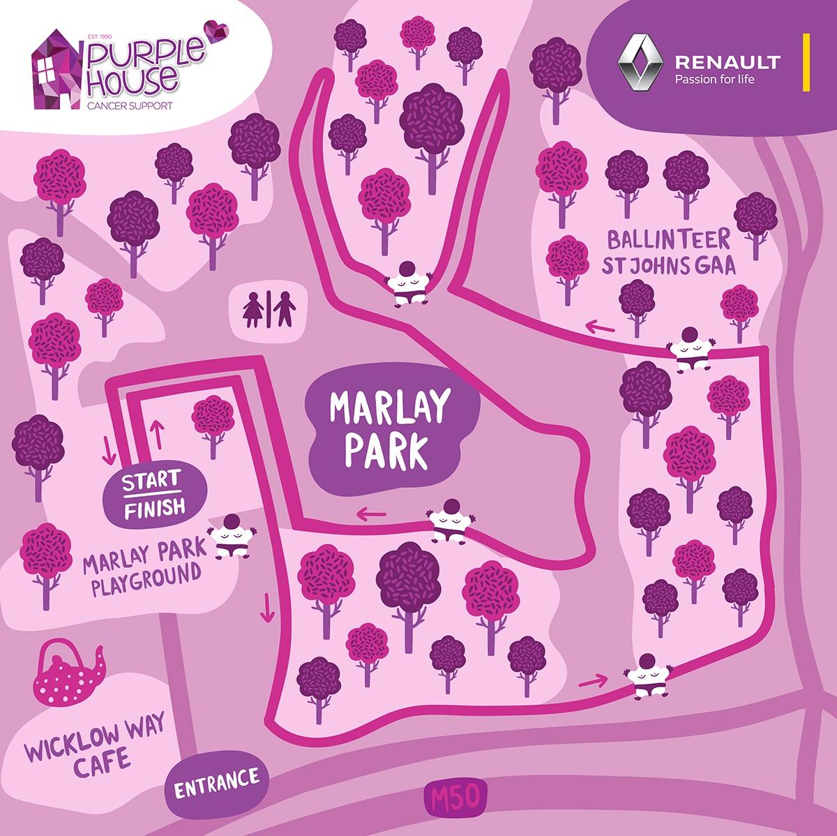 Sumo Run Marlay Park Map official